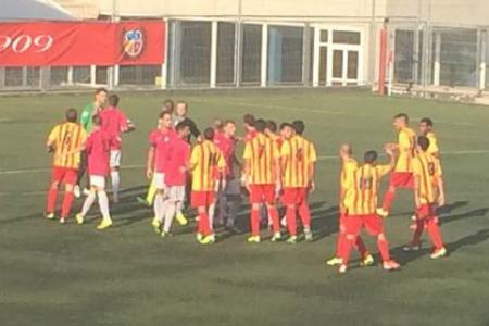Malgrat la vermella a Xavi Puerto, el Sant Andreu va assolir la final // FOTO: J. Mestres