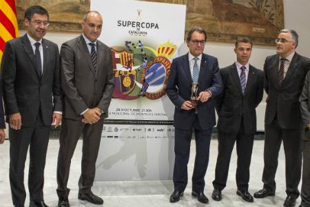 Una imatge de la presentació oficial de la Supercopa de Catalunya // FOTO: FCF