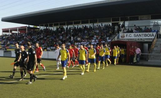 El Santboià jugarà la tornada al seu camp // FOTO: David Ferrer (fcsantboia.cat)