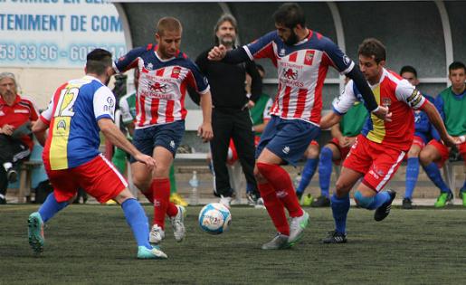 Marc Masip i Alberto Manga, durant un Vilassar-Andorra de la passada temporada / FOTO: ÀXEL AGUILAR