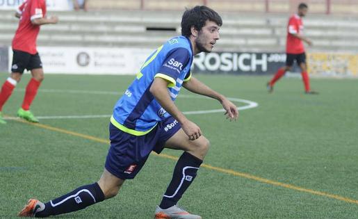 Martí Just va marcr el darrer gol del 2016 a Primera Catalana // FOTO: Arxiu David Ferrer (fcsantboia.cat)