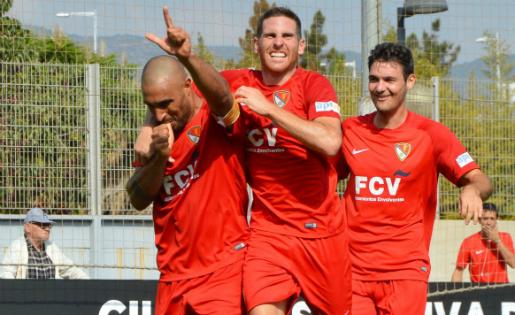 Amantini va marcar el gol de l'empat del Terrassa a la Dani Jarque // FOTO: Terrassa FC