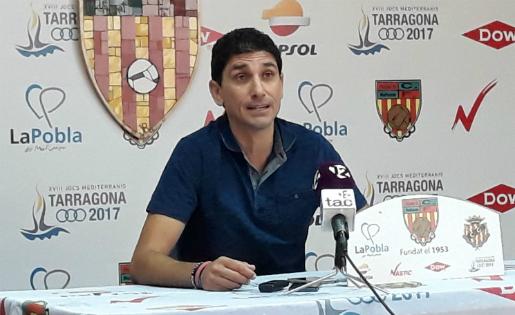 Juanma Pavón, entrenador del CF Pobla Mafumet // FOTO: CF Pobla de Mafumet