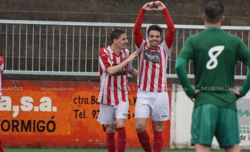 Marc Guijarro -'Giggi'- s'ha estrenat com a golejador amb el Vic // FOTO: David Pallarols