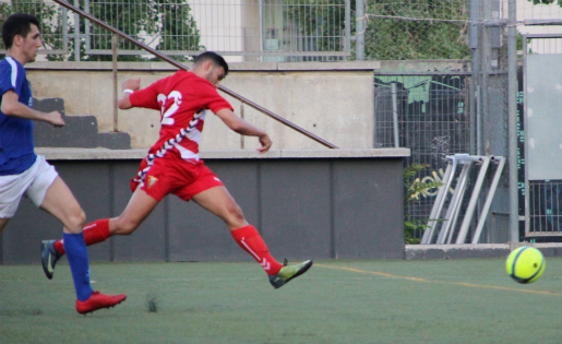 Així va marcar Nadjib el gol que ratificava la classificació del Badalona // FOTO: @Mark_SplashFoto