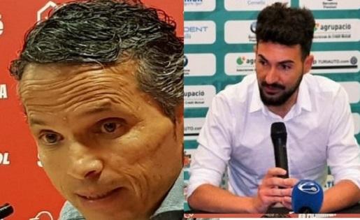 Bartolo (Nàstic) y Romo (Cornellà)
