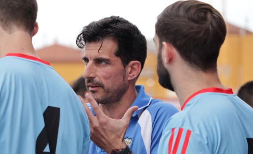 Albert Nualart, entrenador del Martorell, esclata amb les darreres actuacions arbitrals // FOTO: Meritxell Mas