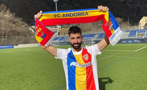 Carlos Martínez, gols  assegurats per a l'Andorra // FOTO: club