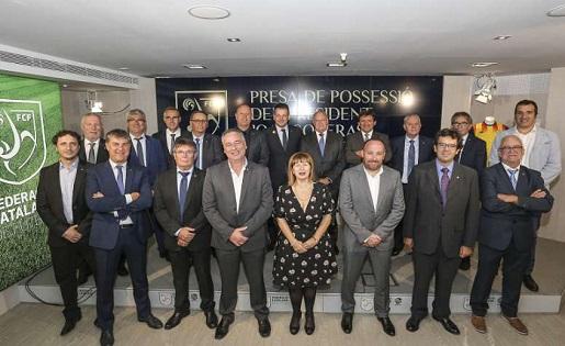Una imatge que ja comença a ser història de la Federació perquè el president s'ha 'carregat' a sis companys // FOTO: F.C.F.