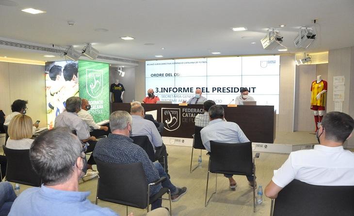 Junta Directiva de la Federació Catalana amb assistència dels seus 30 membres // FOTO: FCF