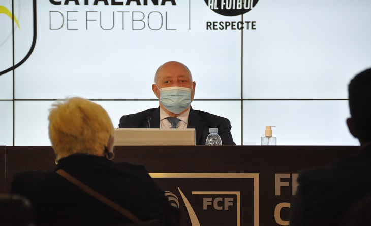 Joan Soteras, president de la Federació Catalana de futbol // FOTO: FCF