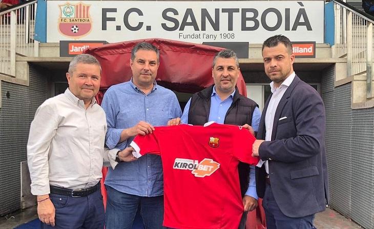 José Alcaraz, el dia que va ser presentat com a màxim responsable de la banqueta baixllobregatí // FOTO: FC Santboià