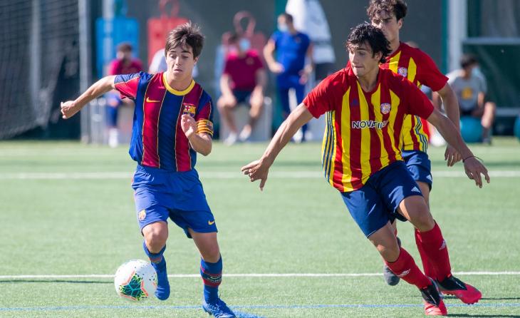 Barça B i Manlleu van jugar durant la pretemporada de Lliga Nacional Juvenil // FOTO: FC Barcelona