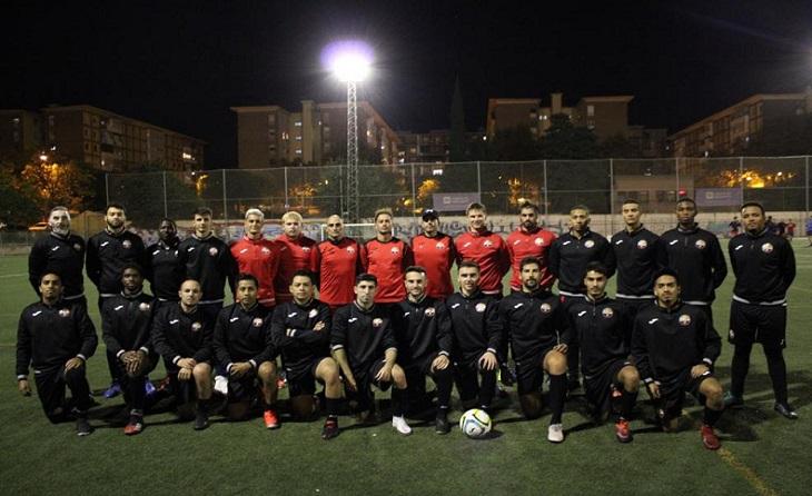 Atlanta El Raval FC i el seu president Amadeo Azuara, un altre exemple del nostre futbol modest a Catalunya // FOTO: M.A.