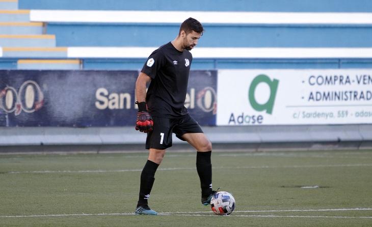 Sergio ha encaixat tres gols en els cinc partits de Lliga que s'han disputat ara com ara // FOTO. Àngel Garreta
