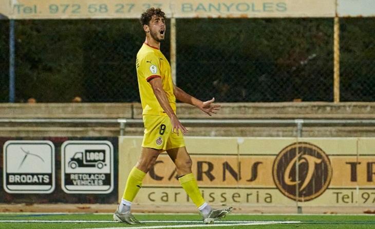 Dos gols d'Alex Pachón serveixen al Girona B per a continuar invicte a la Tercera Divisió // FOTO: Girona FC