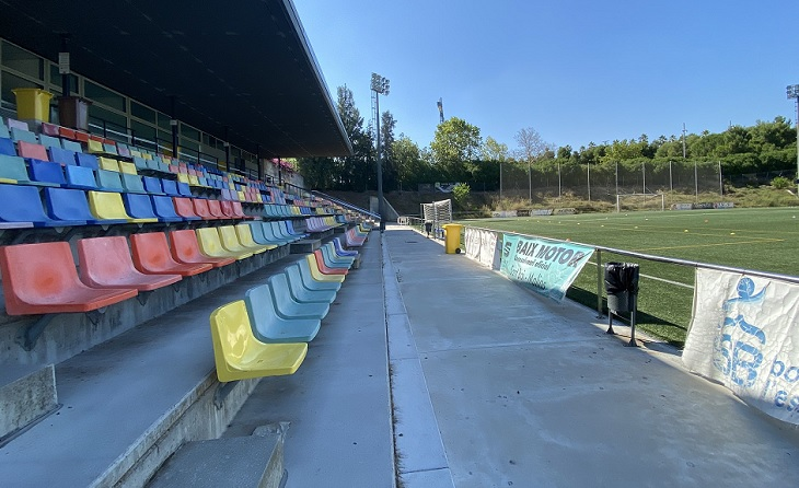 El Joan Baptista Milà de Sant Boi de Llobregat segueix buit com tots els camps de Primera Catalana // FOTO: FC Santboià