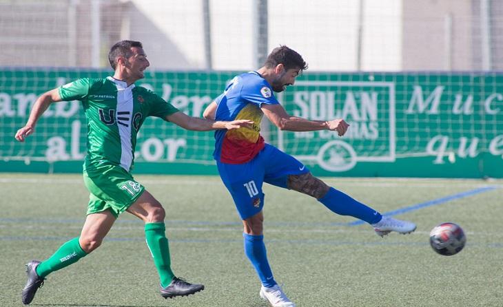 Carlos Martínez va marcar el primer gol del partit a Cornellà // FOTO: FC Andorra