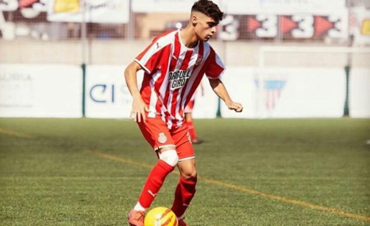 Gabri Martínez, en una imatge amb el Girona B de la temporada passada // FOTO: @eterngirona