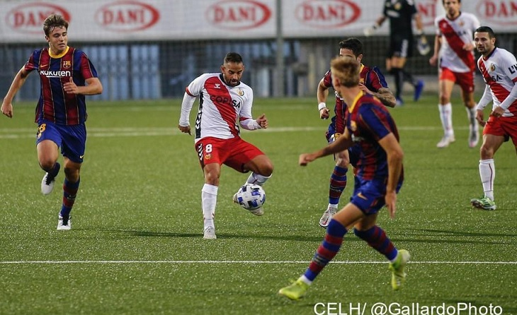 Segona derrota de quatre partits disputats per als blaugrana a L'Hospitalet // FOTO: Àlex Gallardo