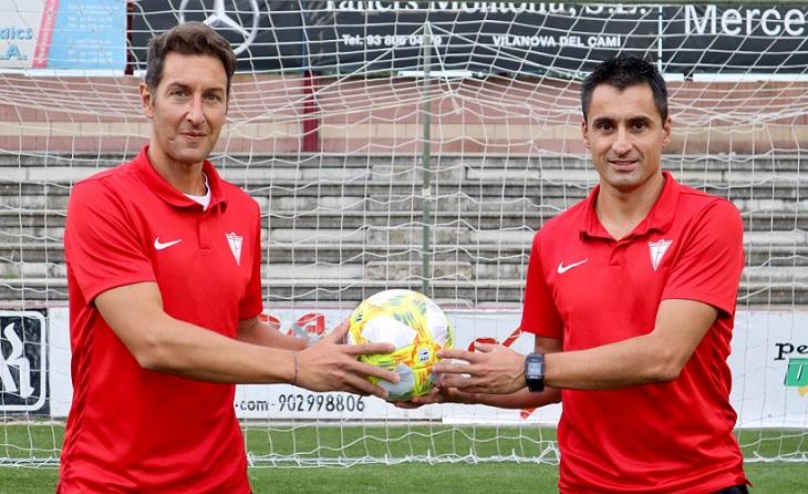 Marc Sellarès i Santi Triguero, una 'parella' extraordinària dins i fora del terreny de joc. És la part bona del futbol // FOTO: CF Igualada