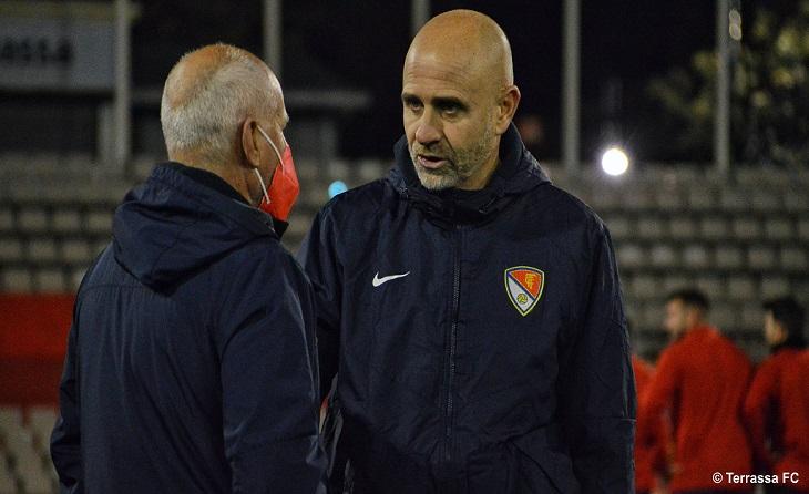 Joanjo García ja ha treballat aquest dimarts com a responsable del primer equip egarenc // FOTO: Terrassa FC