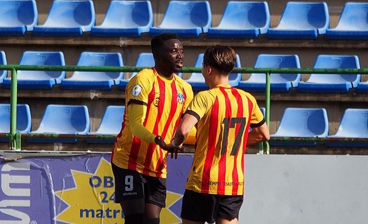 Kuku i Enric Baquero, els dos golejadors quadribarrats enfront del Granollers // FOTO: UE Sant Andreu