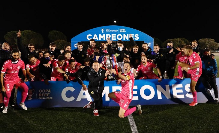 Gran èxit del Llagostera a Las Rozas pel futbol català // FOTO: RFEF