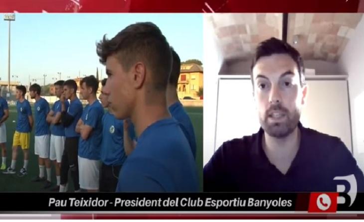 Pau Teixidor assumeix la màxima responsabilitat del primer equip en aquesta mala ratxa actual // Arxiu Banyoles TV