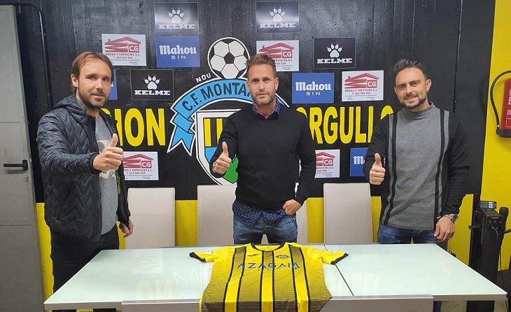 Joan Verdú i Sergio García. Al mig, el jugador i secretari tècnic, Pedro García