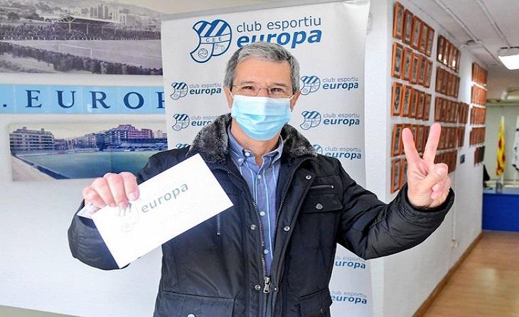 L'Europa segueix presidit per Víctor Martínez // FOTO: CE Europa