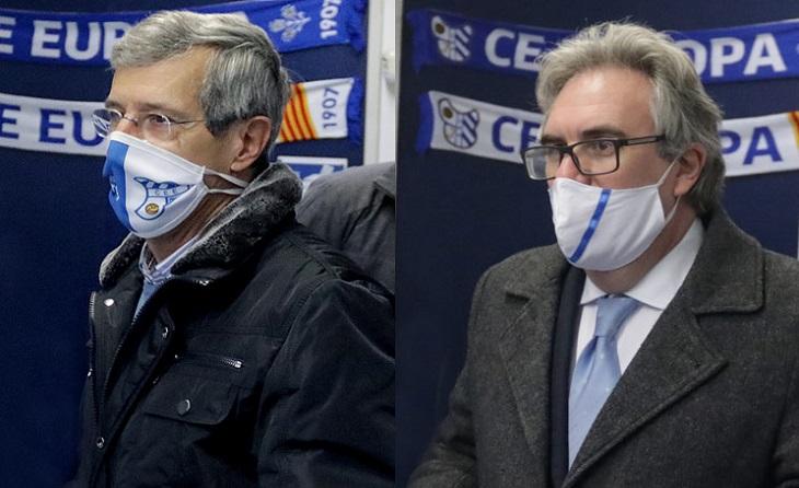 Víctor Martínez i David Prats es trobaran diumenge que ve 20 de desembre en les urnes del Nou Sardenya // FOTO: CE Europa