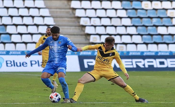 Abel Molinero va anotar en el minut 82 el gol clau del partit // FOTO; Lleida Esporiu