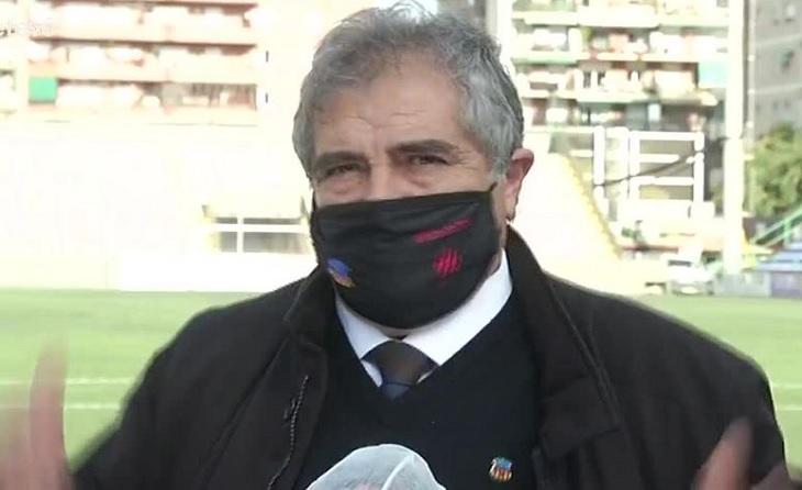 Manuel Camino, president de la UESA, no ha amagat el seu malestar després de la destitució d'Azparren // FOTO: BTV