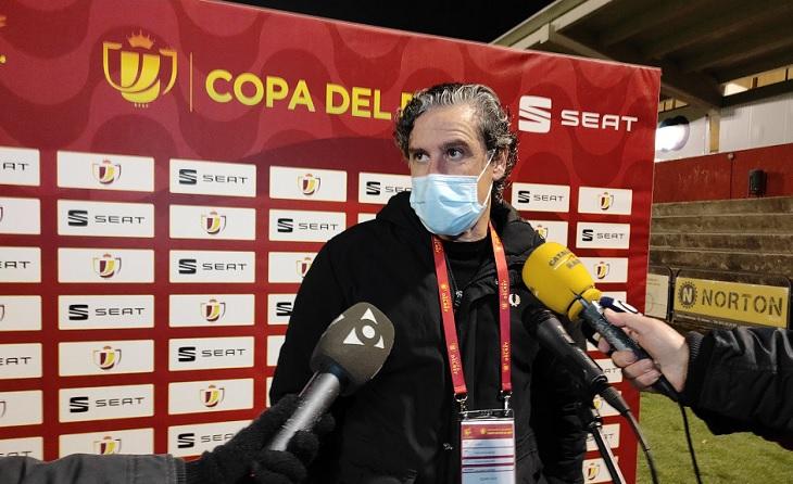 El tècnic garrotxí va parlar d'orgull enfront d'Osasuna encara que no va ser suficient per a guanyar // FOTO: UE Olot