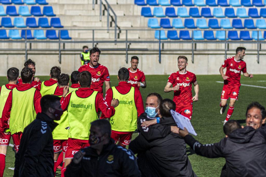 Gol d'or per a Pedro Martín i per al Nàstic de Seligrat a Badalona // FOTO: Nàstic de Tarragona