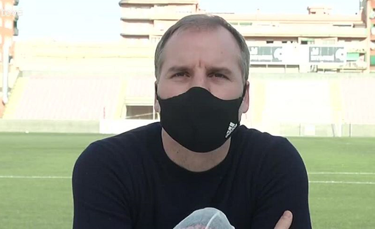 Mikel Azparren, ex tècnico quadribarrat ha estat durant 176 partits al capdavant del primer equip // FOTO: BTV