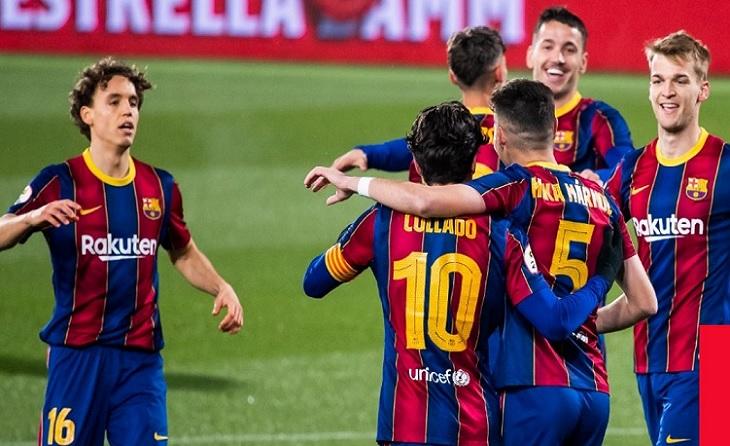 Exhibició del Barcelona B davant el Badalona a l'estadi Johan Cruyff // FOTO. FC Barcelona