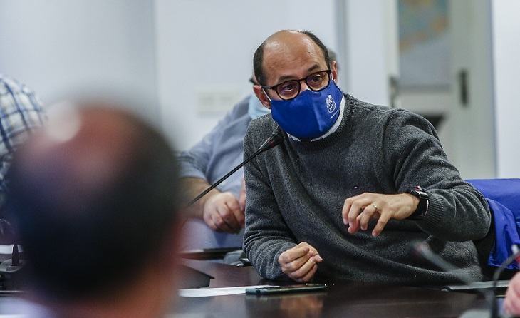 El president de l'Atlètic Lleida, Xavier Batalla, vol, com la majoria de clubs de Primera Catalana les coses clares // FOTO: FCF