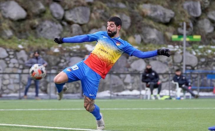 Carlos Martínez és el màxim golejador en actiu del grup 3 de Segona B // FOTO: FC Andorra