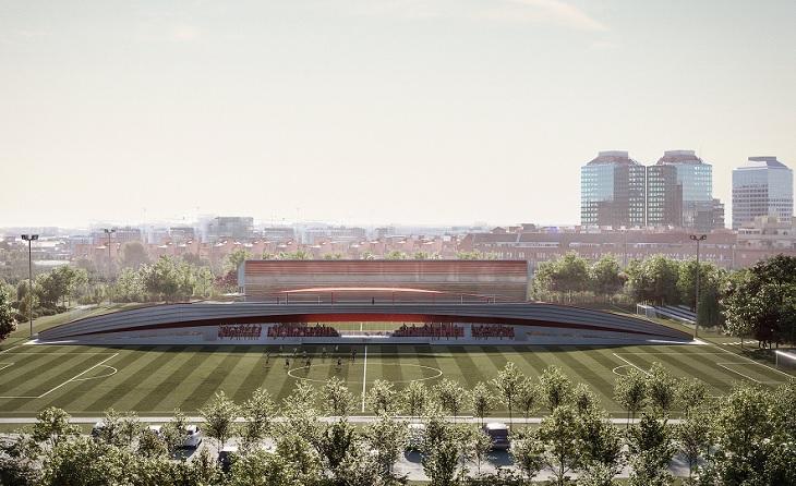 Damm, Nou Estadi, Ciutat Esportiva