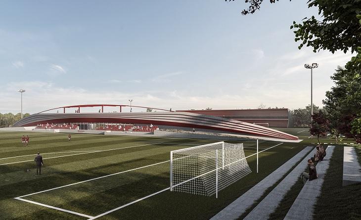 Una altra vista de la futura Ciutat Esportiva de la Fundació Damm, ubicada a la muntanya de Montjuïc // FOTO: CF Damm