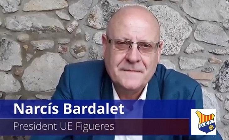 El doctor Narcís Bardalet, president del Figueres,  encantat d'acudir a Banyoles // FOTO: UEF