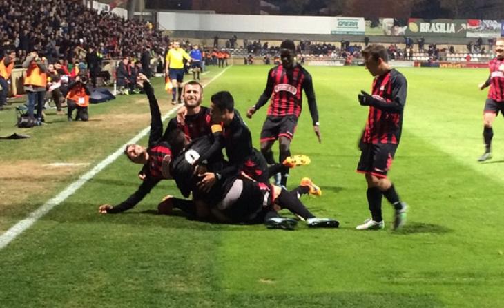 Quins records!! El conjunt dirigit per Natxo González va posar molts problemes als madrilenys // FOTO: FC