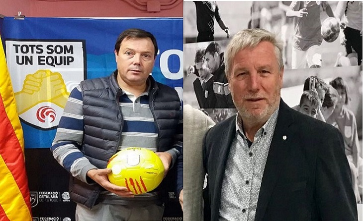Toni Taña`(Osona) i Manel Durán (Penedès-Garraf), els dos delegats destituïts per l'absent Joan Soteras // FOTOS: FCF