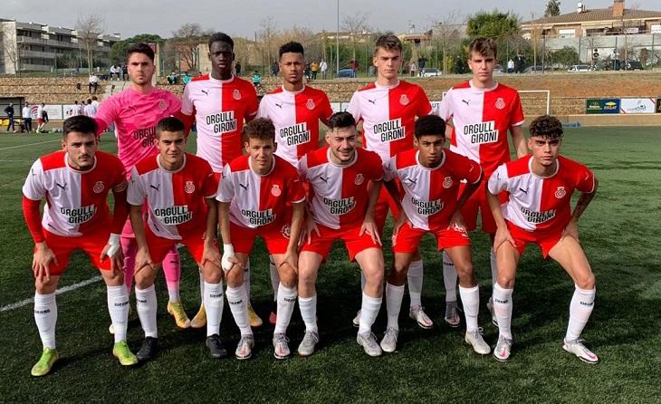 Dos gols (Kemo 4' i Arter 90') del juvenil del Girona van donar la victòria als d'Alex Marsal // FOTO: Carles Casanov