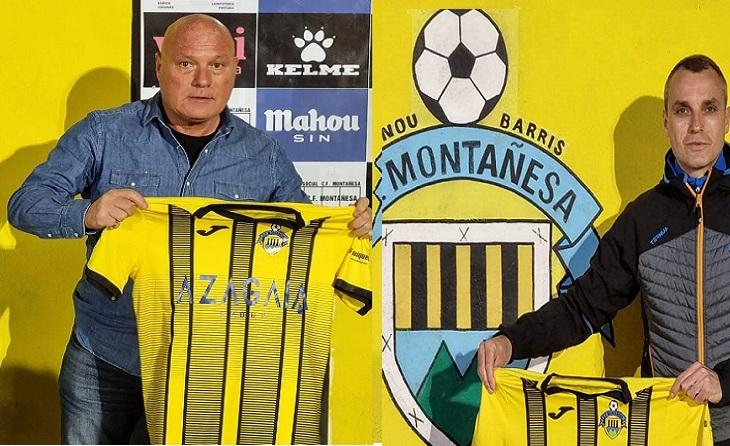 Ramon María Calderé i Luis Milà, nous tècnics del conjunt de Nou Barris // FOTO: CF Montañesa