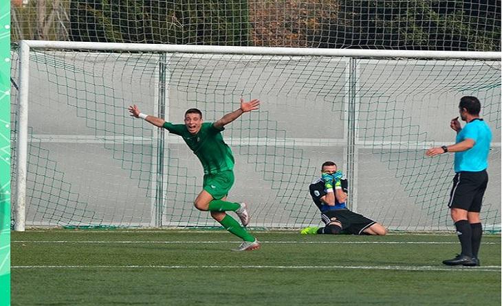 Javi López (Cerdanyola) ja suma 9 gols aquesta Lliga igual que el seu company Pablo Servetti // FOTO Cerdanyola