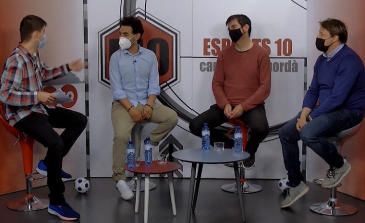 Interessant tertúlia a Canal 10 Empordà amb el futbol català com a protagonista // FOTO: Canal 10