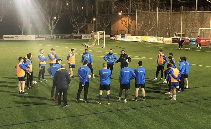 El FC Joanenc va començar el passat 8 de febrer els entrenaments sota estricte protocol // FOTO: FC Joanenc